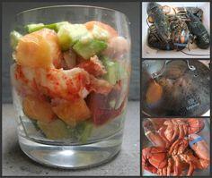 Peach Avocado Lobster Cocktail
