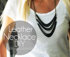 DIY Leather Necklace made with Cricut Explore -- A Ruffled Life. #DesignSpaceStar Round 2