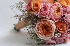 Bukiet ślubny z angielskich róż