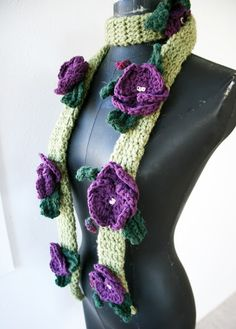 Pansy scarf.