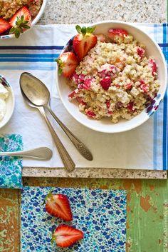 Strawberries 'n Cream Quinoa Porridge | Breakfast Recipe | @Marla Landreth Meridith