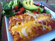 Cheese Enchiladas - meatless and economical, these are also super quick to make.