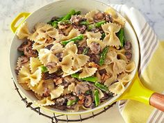Giada's Quick, Creamy Mushroom Pasta is a weeknight favorite, as it's made with only a handful of ingredients.  #RecipeOfTheDay