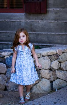 Blue & White Damask Easter Dress Size 4t by BBELLECOUTURE on Etsy, $44.95