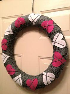 Argyle Valentine Wreath Tutorial