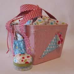 Stampin' Up!  Summer Smooches Fabric  Cheryl Garratt  Sewing Box Tutorial