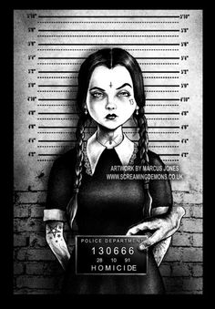 Wednesday Mugshot by MarcusJones / ???Mugshots??? by MarcusJones on DeviantArt (Marcus Jones, United Kingdom)