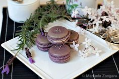 Lavender and Jasmine Macarons