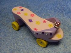 Pinewood Derby car ~ Girl Shoe cub scout, car girls, derbi car, grand prix, pinewood derbi, girl scout, pinewood derby, hobbies, girls shoes