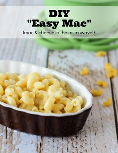 DIY Easy Mac! This Microwave Macaroni and Cheese Recipe is so easy!  On RachelCooks.com