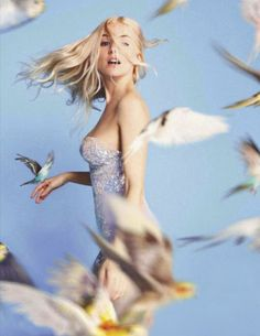 Sienna Miller with birds // photographed by Ryan Mcginley #photography
