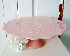 Vintage Fenton Spanish Lace Cake Stand