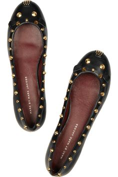Marc by Marc Jacobs | Studded leather mouse ballet flats <3
