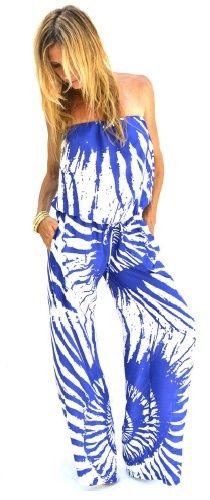 Ramona LaRue Tony Jumpsuit in Blue Shells