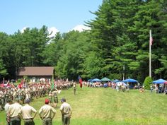 The first eight Sundays in July and August are public visitor days at Camp #Yawgoog!  Tour camp on the Orange Trail, enjoy a chicken barbecue lunch, then watch the Dress Parade!  A 2013 image by David R. Brierley.  Click through for more information.