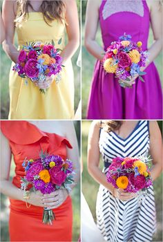 mis matched bridesmaid ideas