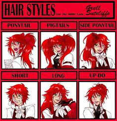 Yes, yes, this! Love Grell's hair!!!