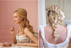 like the braided half up style a lot.