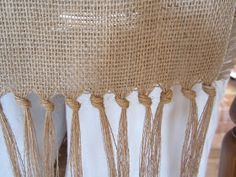 ANTIQUECHASE: Hand Knotted Burlap Table Runner ~ DIY