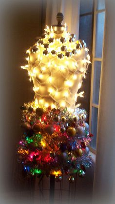 Dress Form Christmas Tree by Fashionable Notes, via Flickr #retail #merchandising #store #display