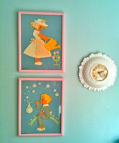Darling felt pictures in my cousins Amy's house