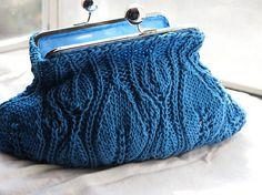 hand knitting, knitting patterns, hands, clutch purse, crochet, clutches, coin purses, blues, bags
