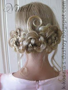bride or bridesmaid hair style