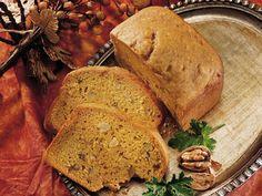 Bread machine recipe for Pumpkin Bread