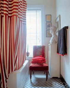 Red Striped Shower Curtain! I Love...
