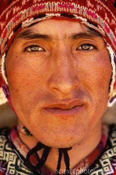 Peruvian Man. Art Wolfe Photography.