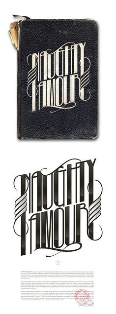 love this: 'Naughty Amour,' by André Beato #typography
