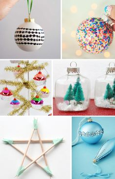 6 Easy DIY Ornaments To Make With Kids via Love From Ginger