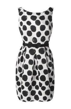 Cute polka dot sheath dress!