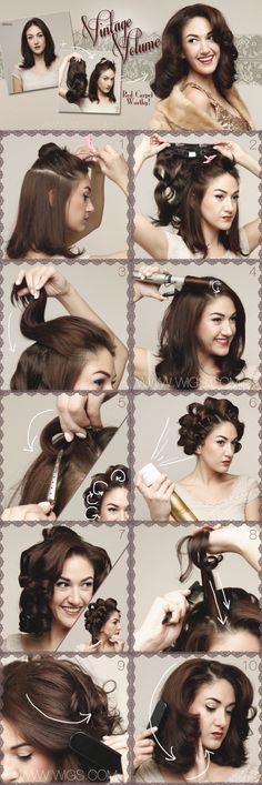 How-to Vintage Volume hairstyle with clip in hair extension