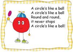 Shape Poems FREEBIE (Can sing to the tune of The Farmer in the Dell) classroom idea, circles, circl poem, farmer, poem freebi, prek, spring preschool, teach, shape poem