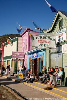 Canada: Dawson City, Yukon Territory. We went to an old saloon and saw an old fashioned can-can dance show. Too cool!!!