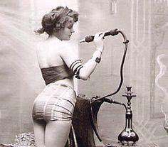 Victorian smoking the water pipe