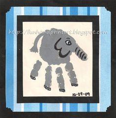 Handprint Elephant Keepsake