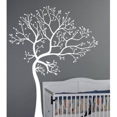 6ft White Tree Wall Decal