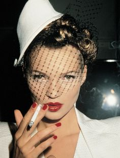 Kate Moss icon, eye makeup, fashion models, red nails, red lips, celebrity portraits, kate moss, eyes, hat