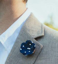 Dots Fabric Boutonniere