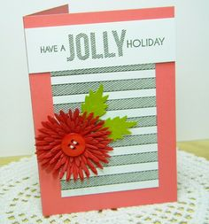 Jolly Holiday Card by Melissa Bickford for Papertrey Ink (July 2014)