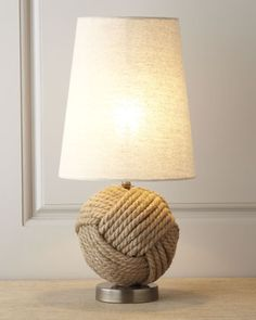 """""""Avalon"""" Rope Ball Mini #Lamp at #Horchow."""