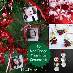10 Mod Podge DIY Christmas Ornaments