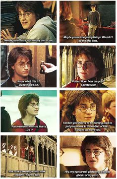 Harry Potter and the Goblet of Sass. That's why his hair is so big, it's full of sarcasm.