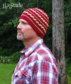 Bottom-up #crochet beanie free pattern from @ElkStudio_