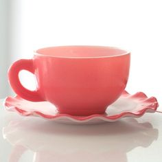 vintage milk glass ..oohhhh I want this cup and saucer set.  <3