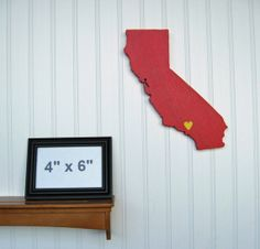 "USC Trojans ""State Heart"" wall art, handcrafted wood with official team colors $29.00"