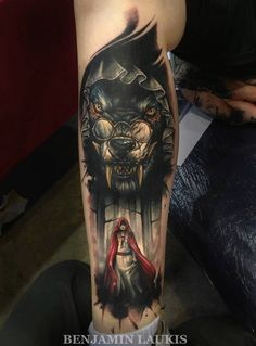 tattoo idea, wolf tattoo, red riding hood, little red, hoods, tattoos, red ride, ride hood, ink