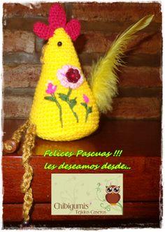 Gallina de Pascuas (amigurumi + bordado) Easter Chicken (amigurumi + embroderie)